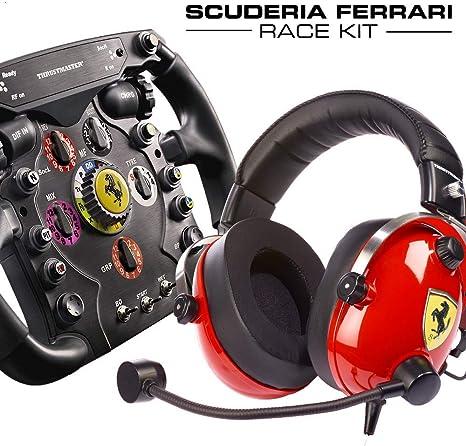 ThrustMaster Kit - Multiplataforma de Auriculares y Volante de Carreras + Réplica Desmontable del Volante Fórmula 1 Ferrari 150 Italia: Amazon.es: Videojuegos
