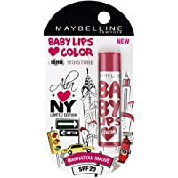 Maybelline Baby Lips Alia Loves New York, Manhattan Mauve, 4g