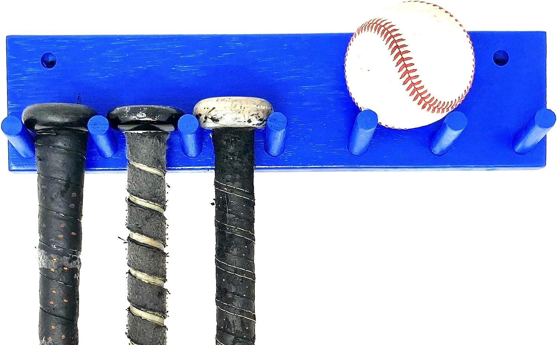 Mini Vertical Softball Baseball Bat Stand Wall Mount Holder Rack Display