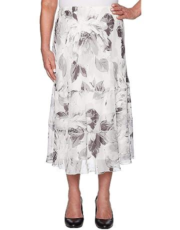 2fd58578adcd Alfred Dunner Women s Versailles Tiered Floral Skirt