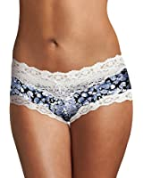 Maidenform Women's Cheeky Panty Micro with Scallop Lace Trim Hipster Panty
