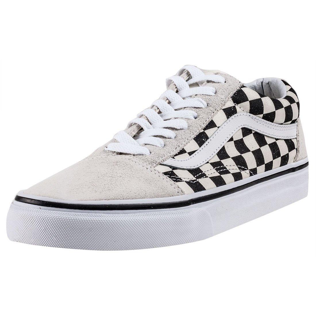 Vans Unisex Old Skool (Checkerboard) White/Black VN0A38G127K Mens Size 9, Womens 10.5