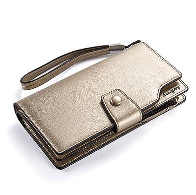 2ba23f67fe34 MOTOYOU 財布 二つ折り 長財布 レディーズ puレザー 人気 無地 女の子 レディース カード入れ スマホ