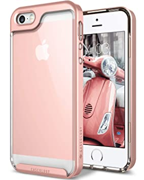 best service c77a6 2612b Caseology Skyfall for iPhone SE / 5S / 5 Case (2016) - Clear Back & Slim  Fit - Rose Gold