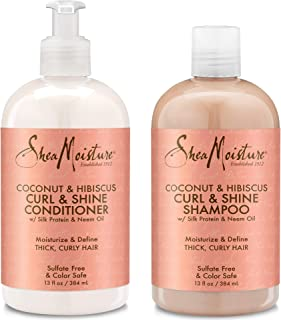 product image for Shea Moisture Coconut & Hibiscus Curl & Shine Shampoo and Conditioner Set