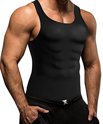8b0d8ae972 Men Waist Trainer Corset Vest for Weight Loss Hot Neoprene Body Shaper Tank  Top Sauna Suit