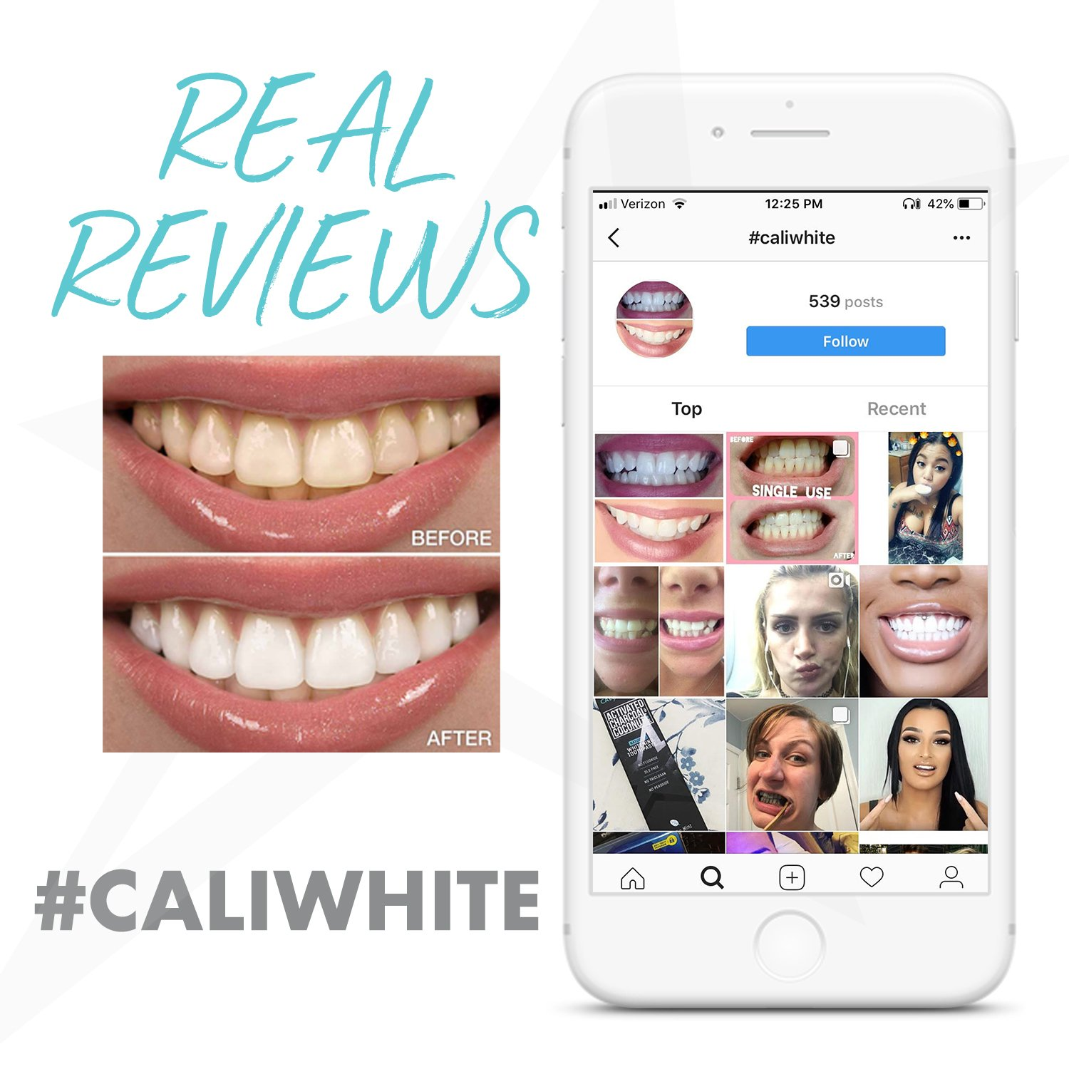 Cali White Vegan Teeth WHITENING KIT with LED Light, Made in USA, Natural & Organic Peroxide Gel, Professional Dental Whitener, Best Home HISMILE System: 2 X 5mL Syringes, Custom Trays, Retainer Case by Cali White (Image #8)