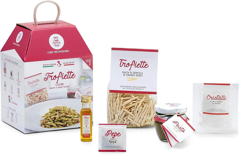 TROFIETTE GENOVESI con Pesto e Pinoli Tostati My Cooking Box x2 Porzioni - Idea Regalo San Valentino 2020
