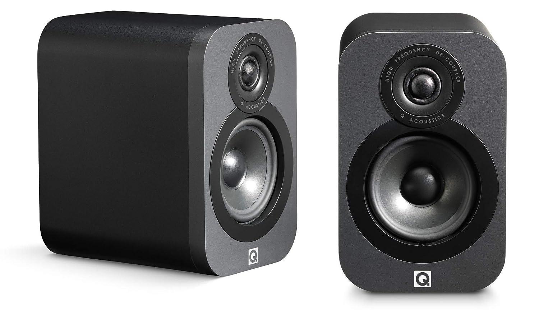 Q Acoustics 3010 17W Grafito Altavoz - Altavoces (De 2 vías, 2.0 Canales, Alámbrico, 17 W, 68-22000 Hz, Grafito)