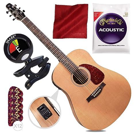 Guitarra acústica/eléctrica Seagull S6 Classic M-450T + afinador + ...