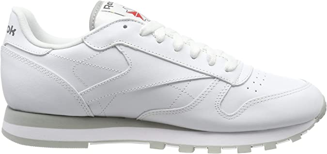 Reebok Classic Leather - Zapatillas de cuero para hombre, color blanco (int-white / lt. grey), talla 41: Amazon.es: Deportes y aire libre