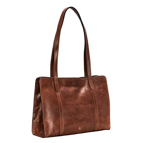 64cd69560590f Maxwell-Scott® Tan Large Italian Leather Bag for Women (The Rivara)  Maxwell  Scott  Amazon.co.uk  Clothing