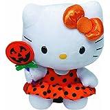 TY 7141009 - Hello Kitty Baby - Halloween, orangefarbenes Kleid + Kürbis, 15 cm, Beanie Babies, limitiert
