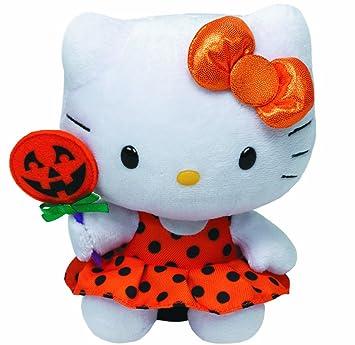 Ty 7141009 Beanie Babies - Peluche de Hello Kitty con vestido naranja y calabaza (15