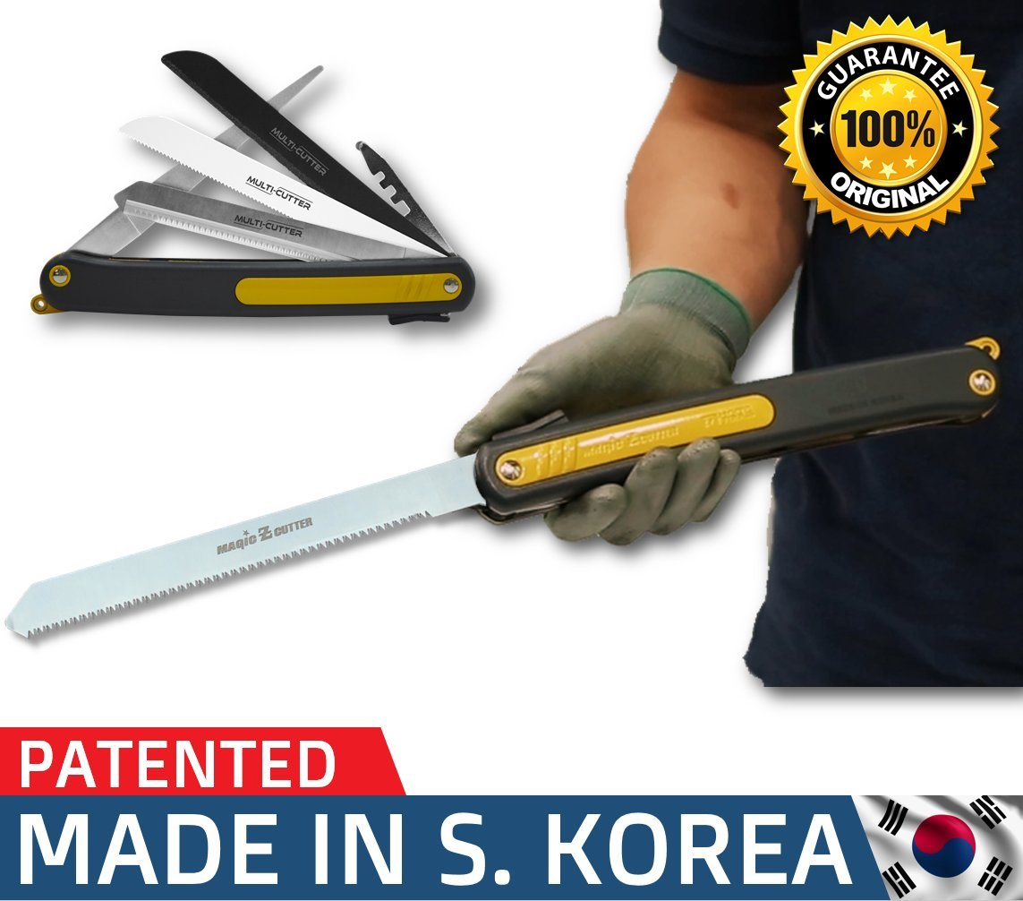 Pruning Folding Camping saw is a Survival Heavy Duty camp Saw for tree Trim, Wood PVC Glass Bottles Tile a Universal Multi Blades Work as Hacksaw Bow Rip Chain Handsaws & foldable knife sharpener