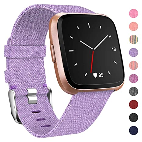 HUMENN Compatible para Correa Fitbit Versa/Fitbit Versa Lite, Pulsera Tejidas Ajustable Reemplazo Sport Wristband para Fitbit Versa Smartwatch ...
