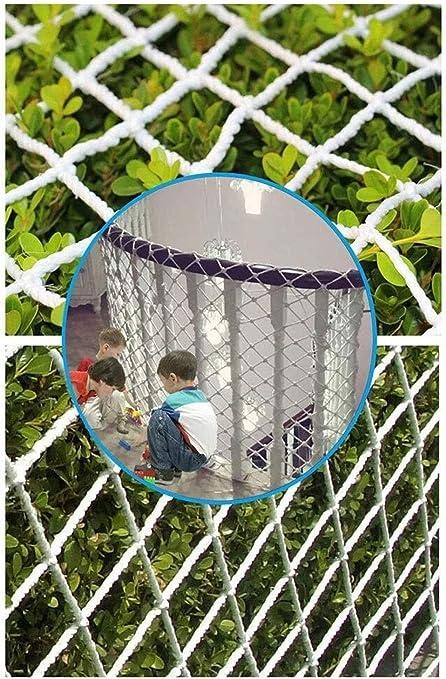Red de Protección de Escalera, Red De Seguridad Blanca For Niños Red De Protección Infantil Patios Y Barandas Escaleras Red, Red De Carril Segura For Niños/Mascotas/Juguetes, Material De Tela De M: Amazon.es: