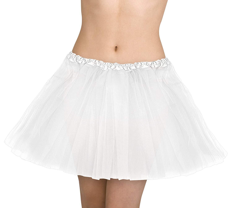 OIG Brands White Tulle Skirt - Petticoat Skirts Tutu - Underskirt for Woman - Poodle Skirt