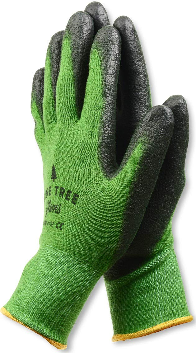 Pine Tree Tools Bamboo Working Gloves for Women and Men. Ultimate Barehand Sensitivity Work Glove for Gardening, Fishing, Clamming, Restoration Work & More. S, M, L, XL, XXL (1 Pack L)