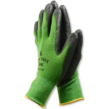Pine Tree Tools Bamboo Working Gloves for Women and Men-Ultimate Barehand Sensitivity Work Glove for Gardening, Fishing, Clamming, Restoration Work-black/green,L,(1 Pack)