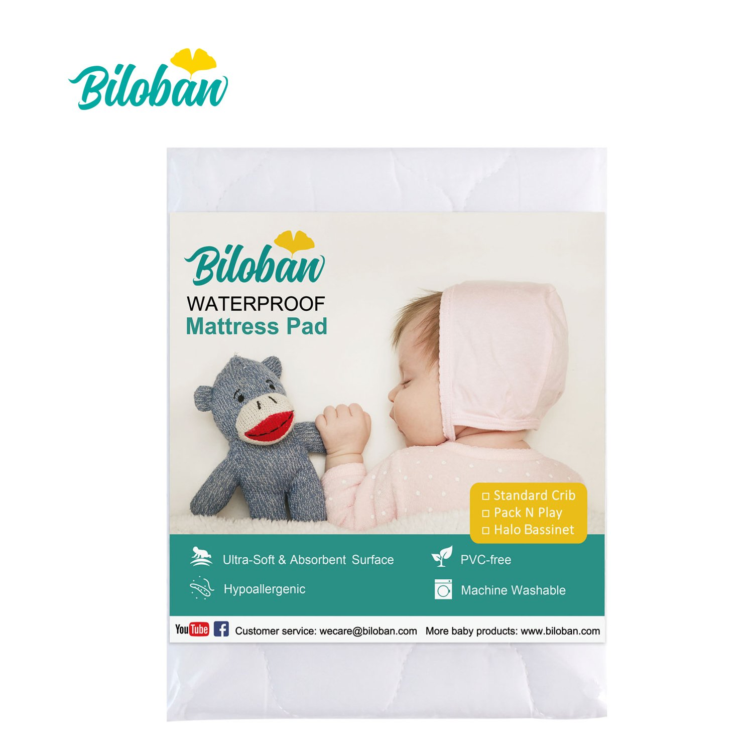 Bassinet Pad Protector for Halo Swivel Sleeper Bassinet Mattress, Breathable Soft and No Shrink for Baby Bassinet Mattress Cover