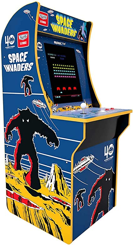 Arcade1up 0001370245 2 Juegos En 1 Space Invaders Four Feet Arcade Machine Toys Games