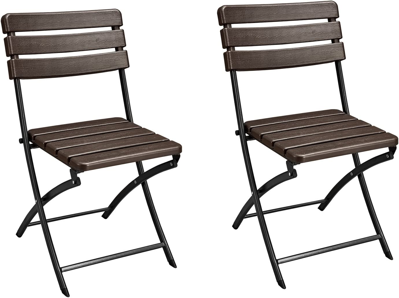Homebeez Folding Bistro Outdoor Patio Rattan Table Brown Brown Chair