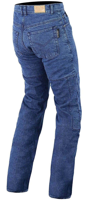 Bikers Gear UK Motocicleta Azul Oscuro Corte Clásico Jeans con DuPontTM Kevlar® Fibra aramida extraíble Armour