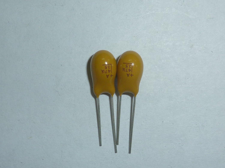 5pcs 25V 1uF 25V Radial DIP Tantalum Capacitor