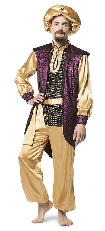 L3301640-60 lila-Gold Maharadscha Herren Sultan Maharadscha lila-Gold Kostüm Gr.60 c9bc47
