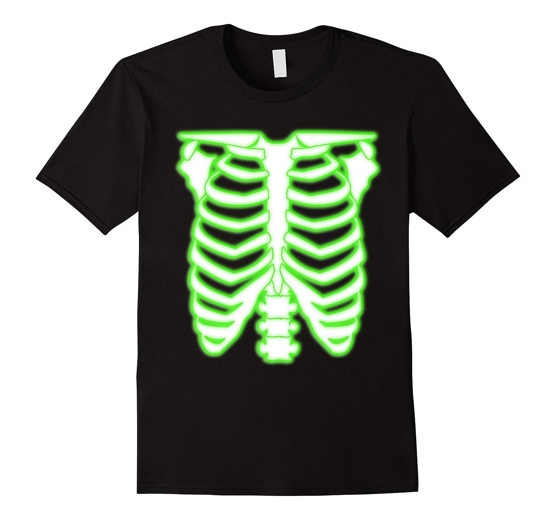 Radioactive Skeleton Rib Cage Halloween Costume T-Shirt