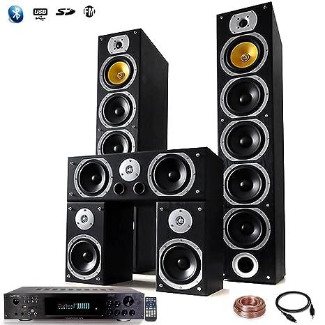 Home Cinema conjunto HIFI 1240 W + Amplificador 360 W + 25 m ...