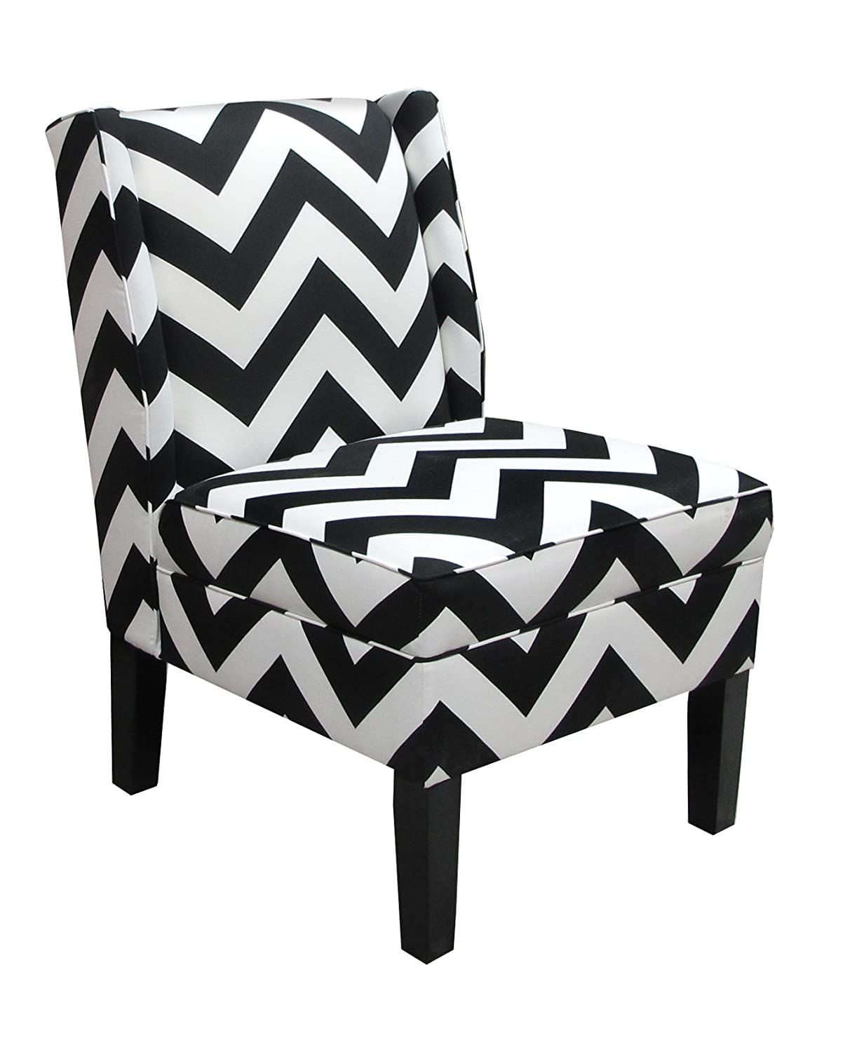Charmant Amazon.com: Skyline Furniture Wingback Chair In Zig Zag Black And White:  Kitchen U0026 Dining
