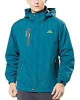 Spvoltereta Men's Lightweight Outdoor Waterproof Jacket Hooded Sports Rain Coat