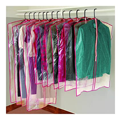 0907316f23c6 Image Unavailable. Image not available for. Color: 13 Clear Zippered Garment  Bags ...