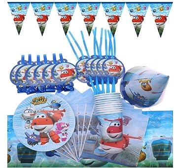 MAGRF Super Wings Decoraciones para Fiestas de cumpleaños ...