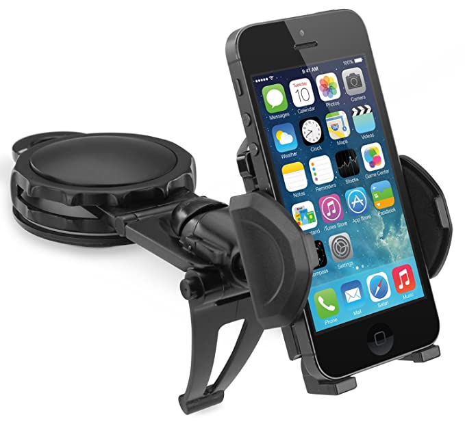 the latest 83476 02e53 MACALLY DASH MOUNT BLACK CAR DASHBOARD HOLDER ADJUSTABLE FOR CELL PHONE  iPHONE 5 5s 5c 6 6S PLUS (OPEN BOX ITEM, MISSING RETAIL PACKAGE)