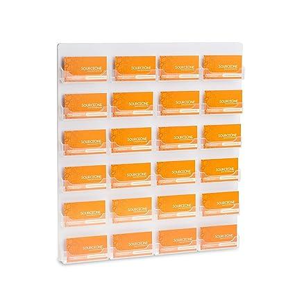 Amazon sourceone premium 24 pocket wall mount business card sourceone premium 24 pocket wall mount business card holder colourmoves