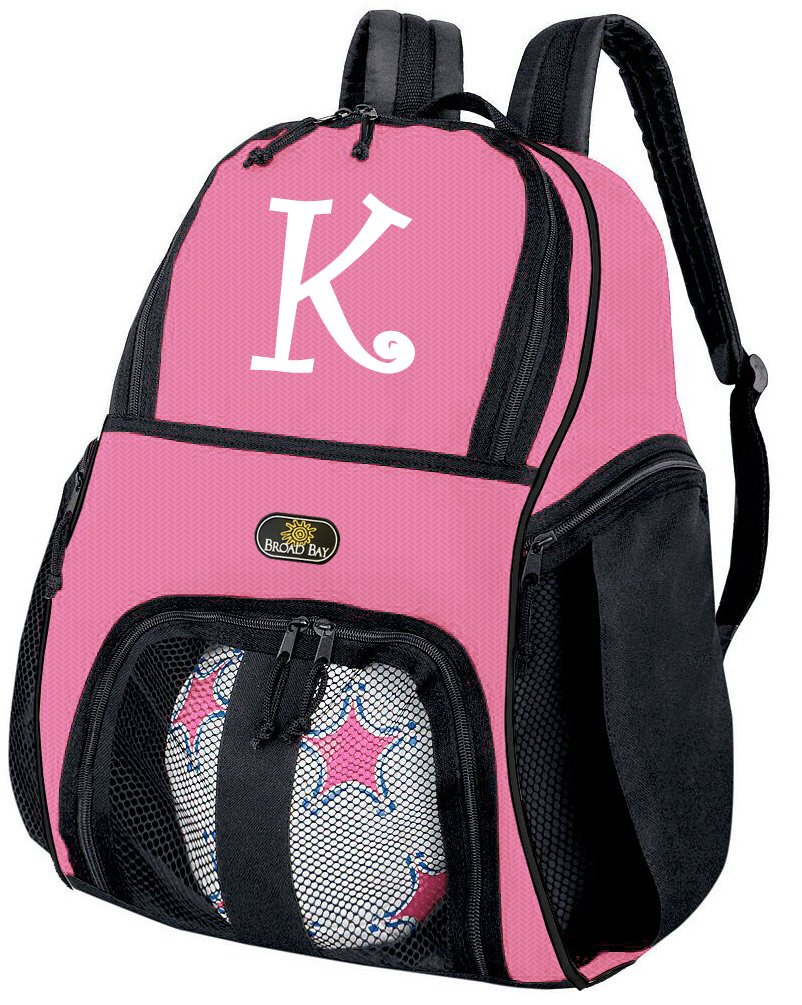 Broad Bay Personalized Girls Soccer Backpack Ball Carrier Bag by