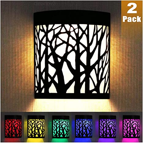 DenicMic Solar Wall Lights Outdoor Fence Solar Lights for Deck Patio Stairs Step