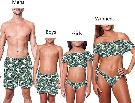 Amazon.com: Family Matching Swimwear Father Son Swim Trunks Mommy Me Two  Piece Swimsuit Women Mens Girl Boy Bathing Suits (6-7 T, Girl Swimwear):  Clothing
