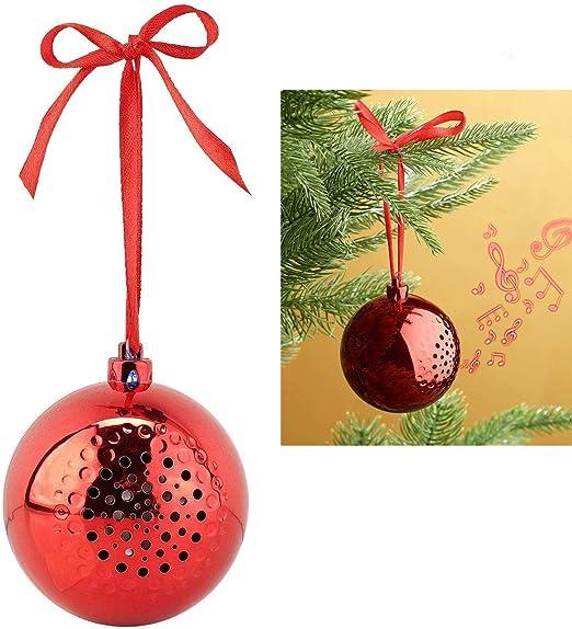 yygift bolas de navidad Sing Extremo altavoz Bluetooth con árbol de Navidad de bolas navideñas joyas bola decorativa navideña Árbol joyas árbol de Navidad Bolas colgante para árbol árbol joyas: Amazon.es: Juguetes