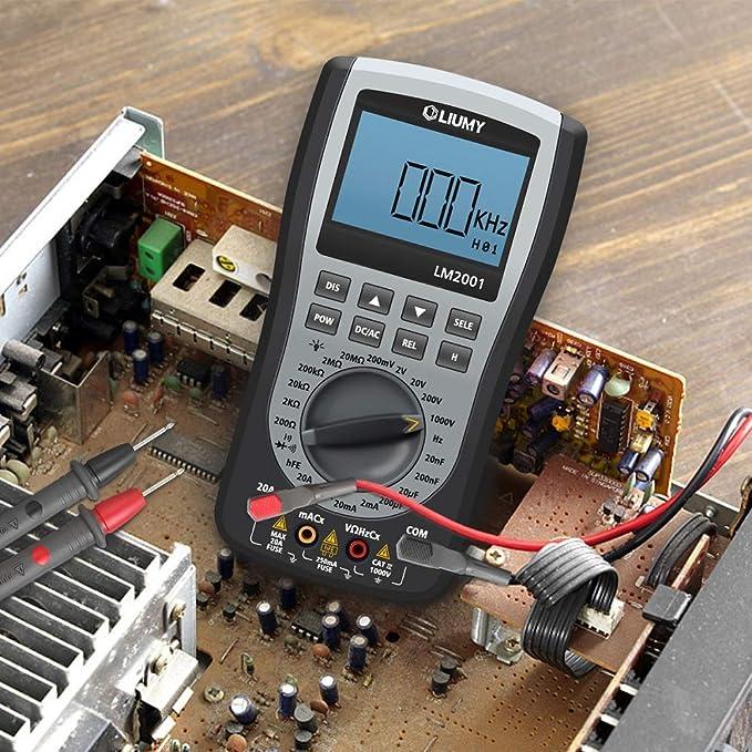 HELEISH Multimetro oscilloscopio portatile digitale 8 in 1 MT8205 Strumenti accessori