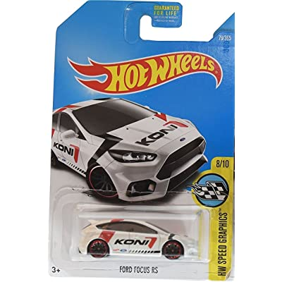 Hot Wheels 2020 HW Speed Graphics Ford Focus RS 79/365, White: Toys & Games