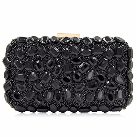8c236d0ff71 Women Evening Bag Gold Clutches Bags Wedding Party Purple Clutch Purses  Black Mini