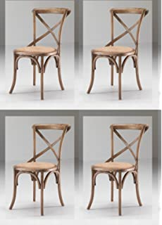 Set 8 Sedie Cross Country Vintage Style in Rovere Naturale - Sconto ...