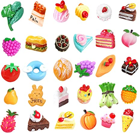 Slime charms Cute Dessert Bread Charms for Slime Filler Cake Ornament Phone Decoration Charms Slime Supplies Toys 29