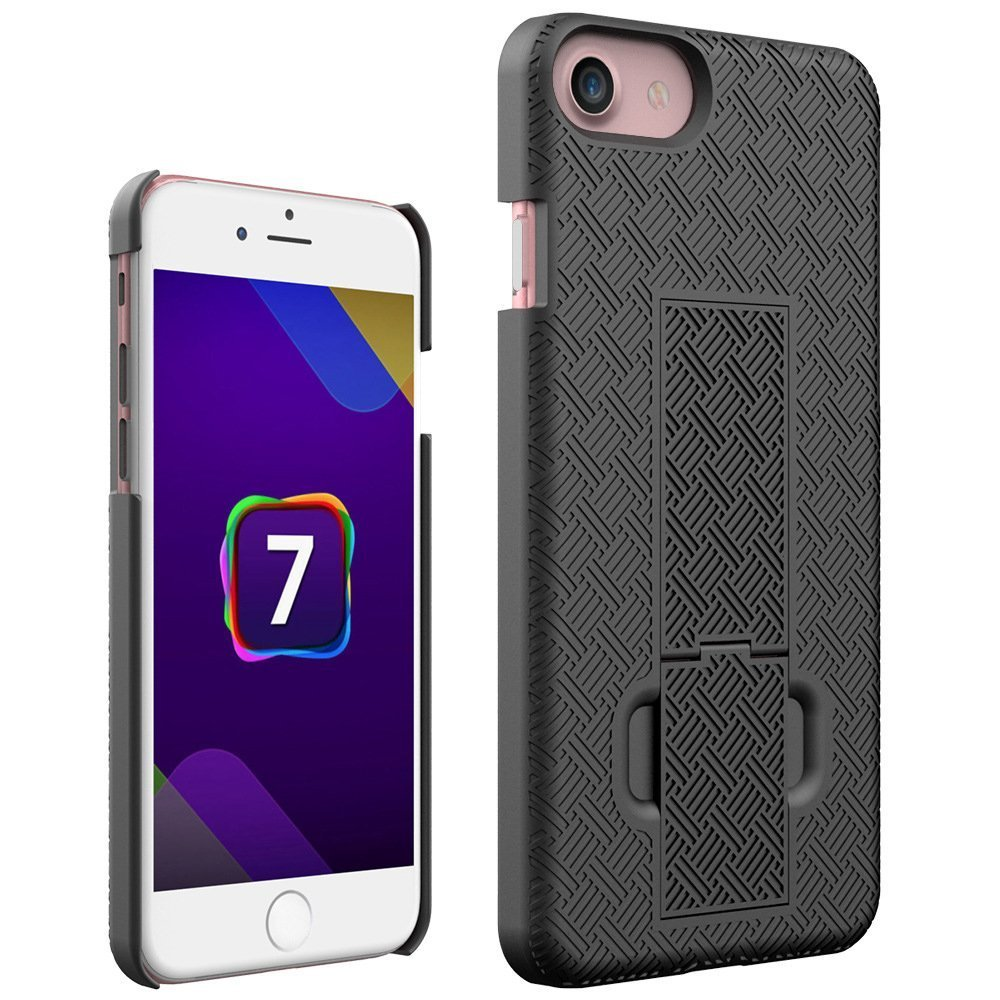 iPhone 8 iPhone 8 Case iPhone 7 Case Emarket/® Holster Combo Hard Protective Cover Case Stand Holder Kickstand with Locking Swivel Belt Clip For Apple iPhone 7