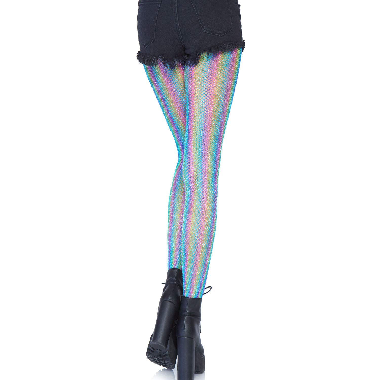 87c20bf8372ff Amazon.com: Leg Avenue Women's Apparel Lurex Shimmer, Blue O/S: Clothing