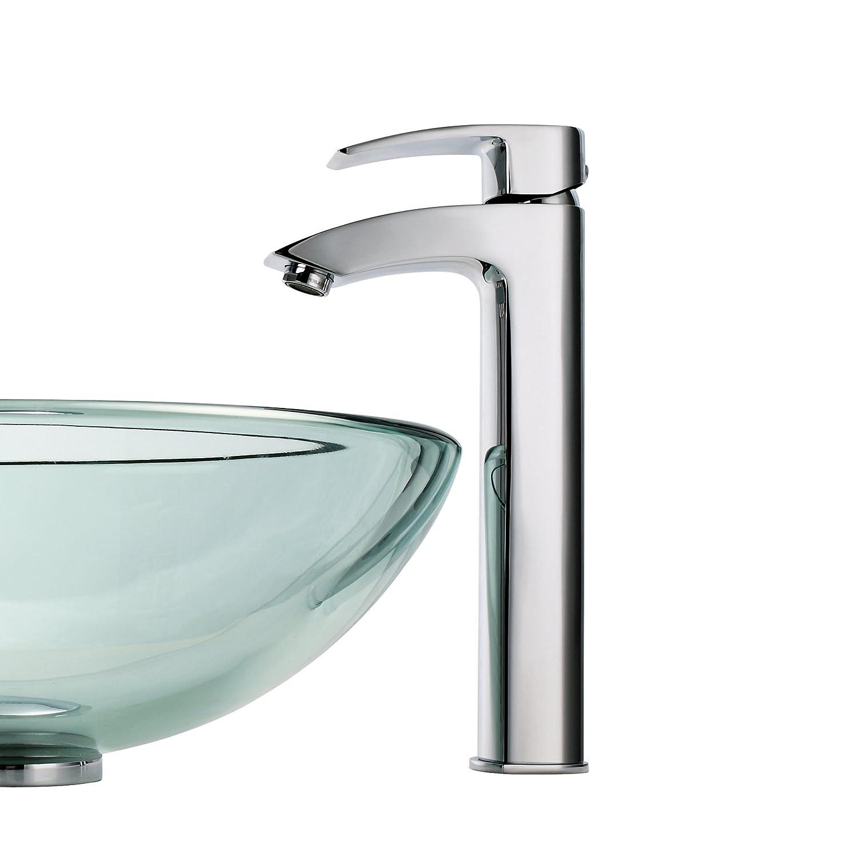 Kraus FVS-1810CH Visio Single Lever Vessel Bathroom Faucet Chrome